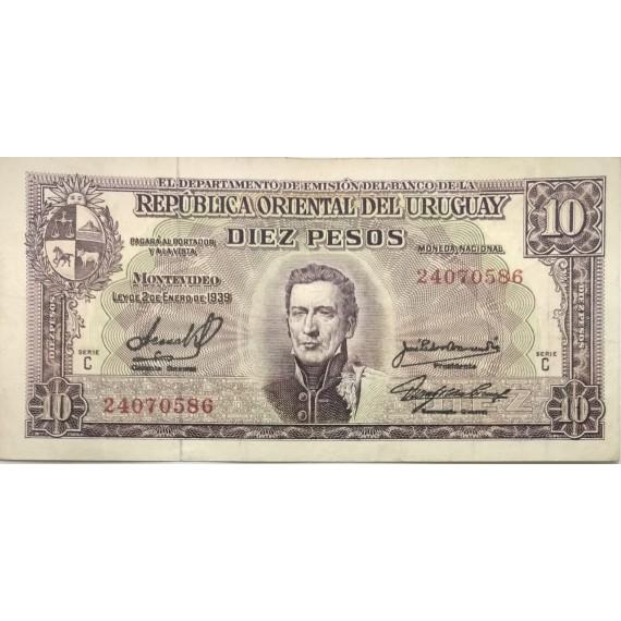 Cédula de 10 pesos - Uruguai