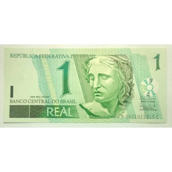 Cédula de 1 Real - Série AC 0001 FE 2003