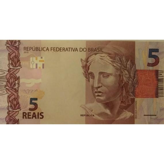 Cédula 5 reais - Série FG FE