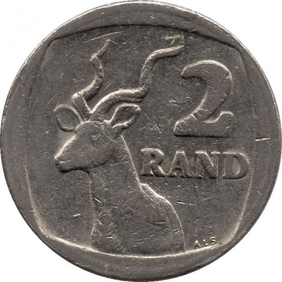 Moeda 2 rand - Africa do Sul - 1990