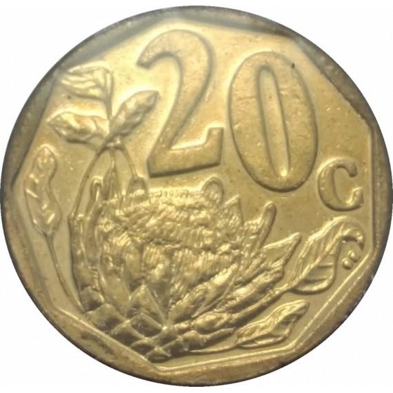 Moeda 20 centavos Africa do Sul 2012