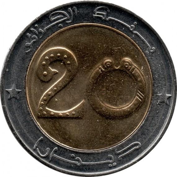 Moeda 20 dinar - Argelia - 2018