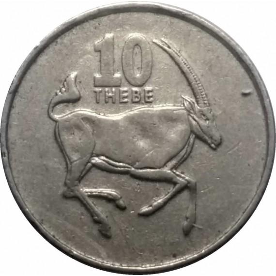 Moeda 10 centavos de pula - Botswana - 1998