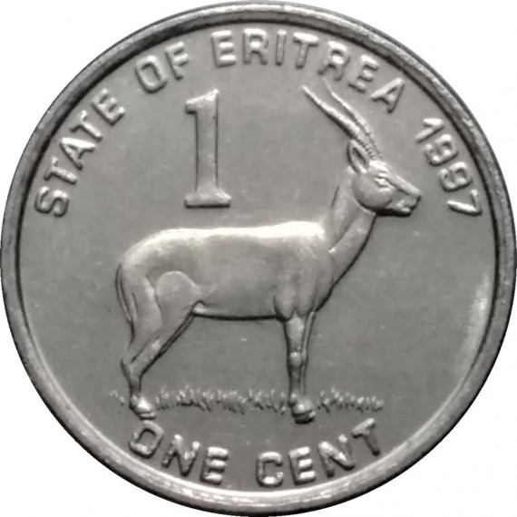 Moeda 1 centavo - Eritreia - 1991