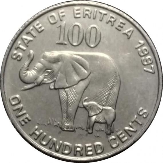 Moeda 1 hundred - Eritreia - 1991
