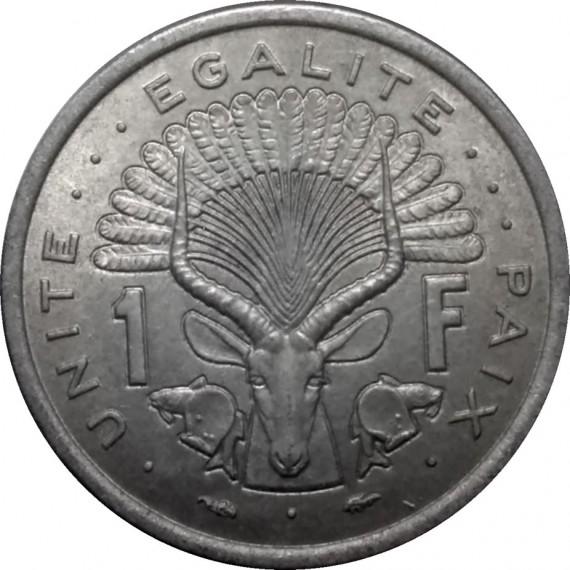 Moeda 1 franco - Jibuti - 1977