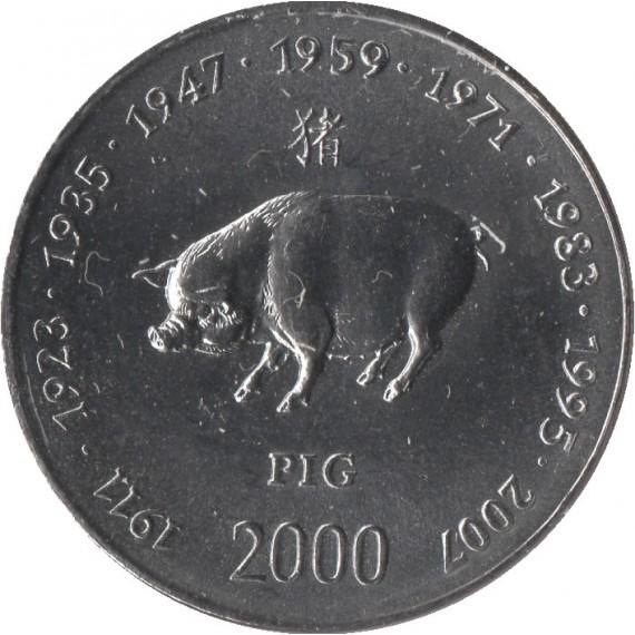 Moeda 10 shillings - Somália - 2000