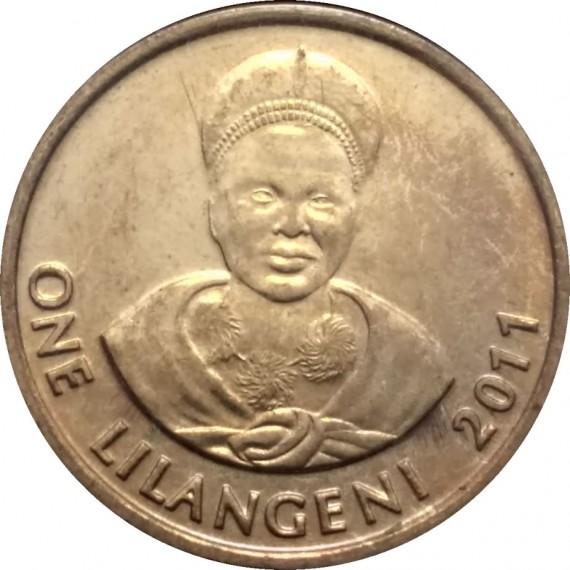 Moeda 1 Lilangeni suazi - Suazilândia - 2011