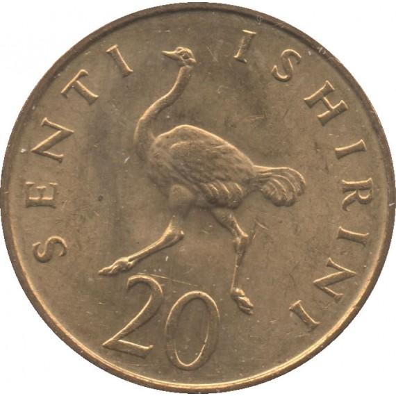 Moeda 20 senti - Tanzânia - 1981