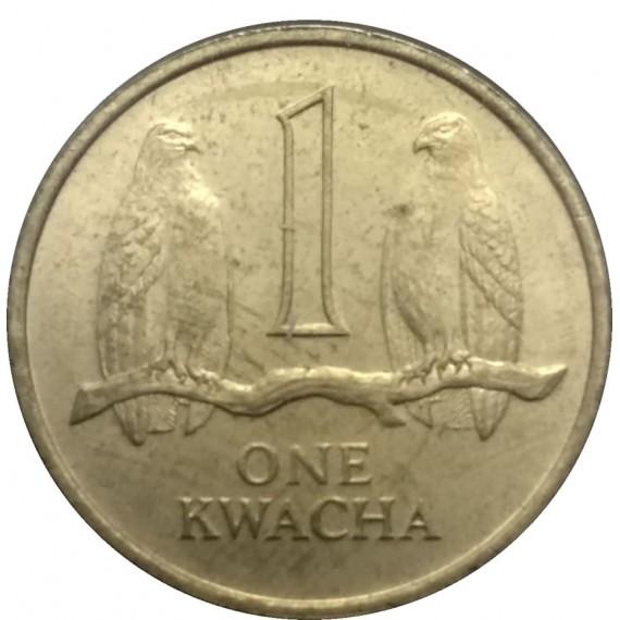 Moeda 1 Kwacha - Zambia - 1992