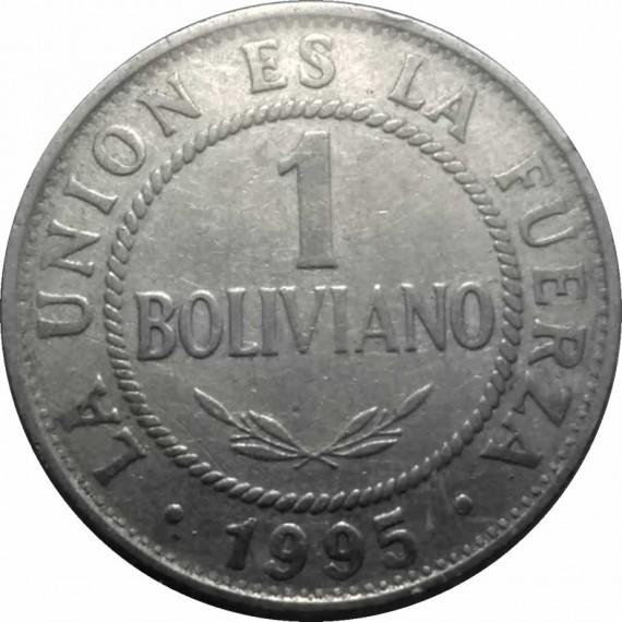 Moeda 1 boliviano - Bolivia - 1995