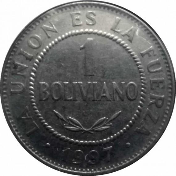 Moeda 1 boliviano - Bolivia - 1997