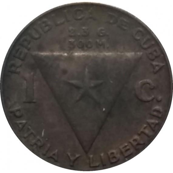 Moeda 1 centavo - Cuba - 1953