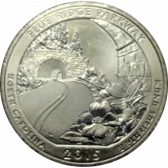 Moeda 0,25 Dolar - EUA - Parks Blue Ridge Parkway 2015 D