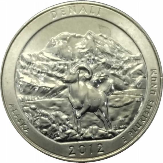 Moeda 0,25 Dolar - EUA - Parks Denali - 2012 D