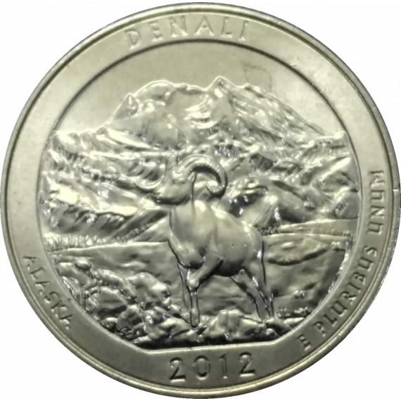 Moeda 0,25 Dolar - EUA - Parks Denali - 2012 P
