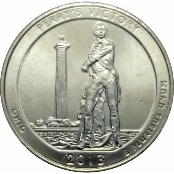 Moeda 0,25 Dolar - EUA - Parks Perry's Victory - 2013 P