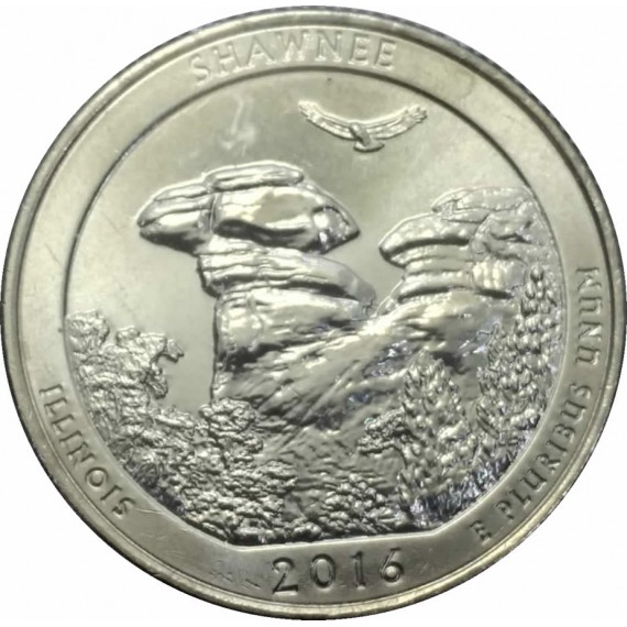 Moeda 0,25 Dolar - EUA - Parks Shawnee 2016 D