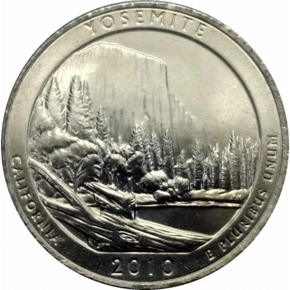 Moeda 0,25 Dolar - EUA - Parks Yosemite - 2010 P