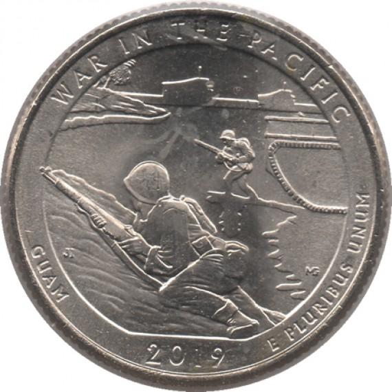 Moeda 0,25 Quarter Dolar - EUA - War in the Pacific 2019-P