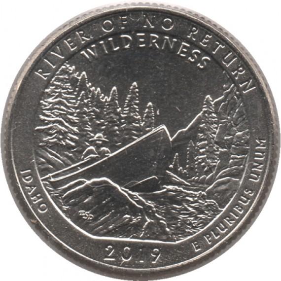 Moeda 0,25 Quarter Dolar - EUA - River of no Return 2019-D