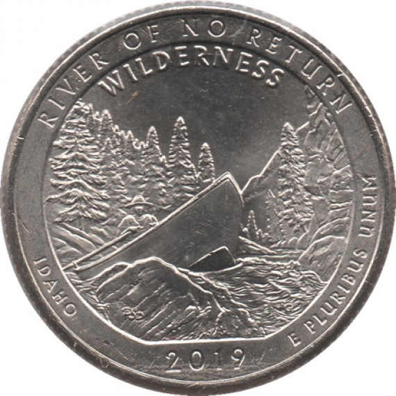 Moeda 0,25 Quarter Dolar - EUA - River of no Return 2019-P