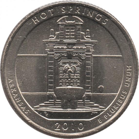 Moeda 0,25 Quarter Dolar - EUA - Hot Springs 2010-D