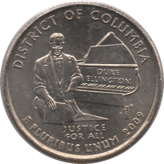 Moeda 0,25 Quarter Dolar - EUA - District of Columbia 2009-P