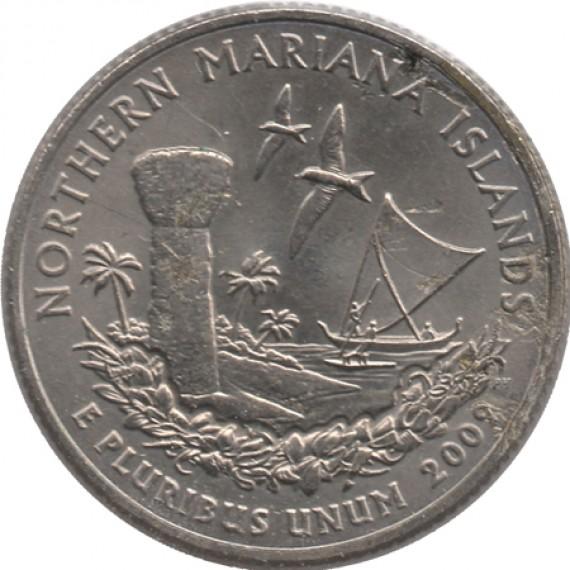 Moeda 0,25 Quarter Dolar - EUA - Northern Mariana Islands 2009-D
