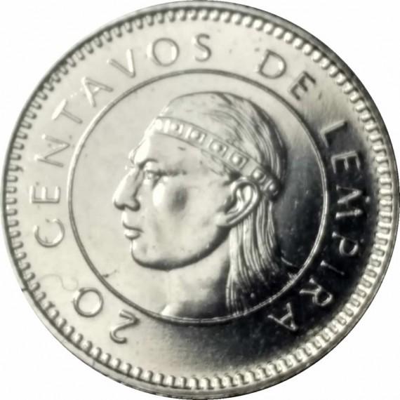 Moeda 0,20 lempira - Honduras - 1996