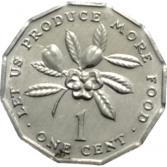 Moeda 1 centavo de dolar - Jamaica - 1990