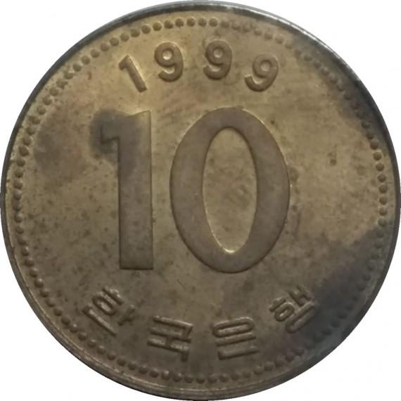 Moeda 10 won - Coréia - 1999