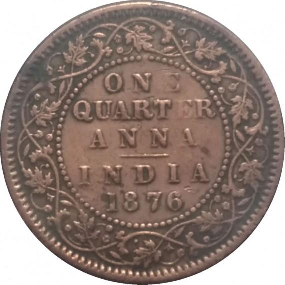 Moeda 1/4 anna - India - 1876
