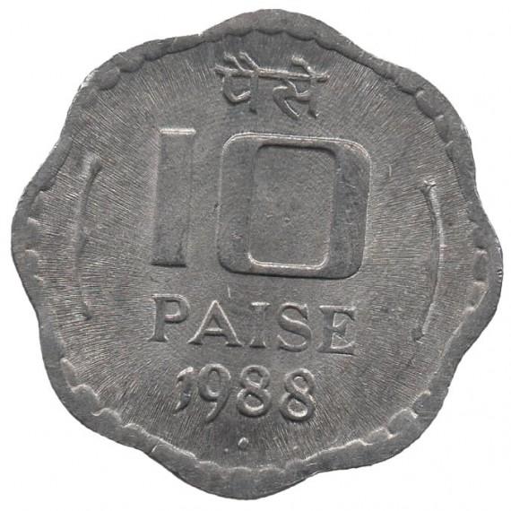 Moeda 10 paise - India - 1988