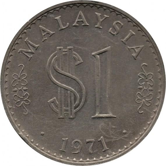 Moeda 1 ringgit - Malasia - 1971