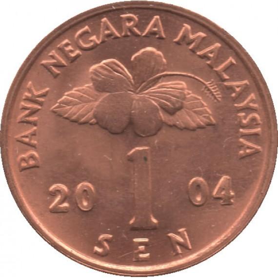 Moeda 1 sem - Malásia - 2004