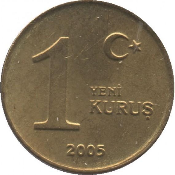 Moeda 1 yeni kurus - Turquia - 2005