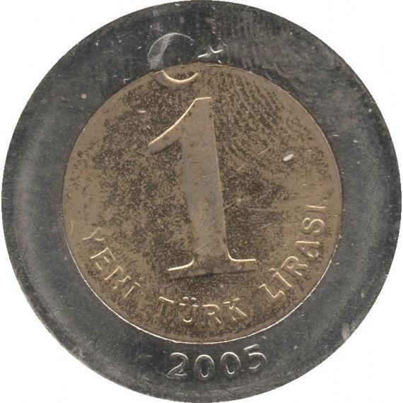 Moeda 1 Yeni Turco - Turquia - 2005