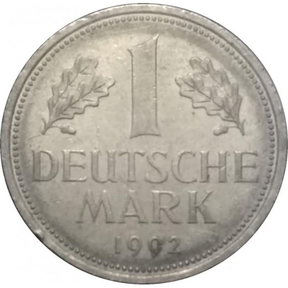 Moeda 1 marco - Alemanha - 1992