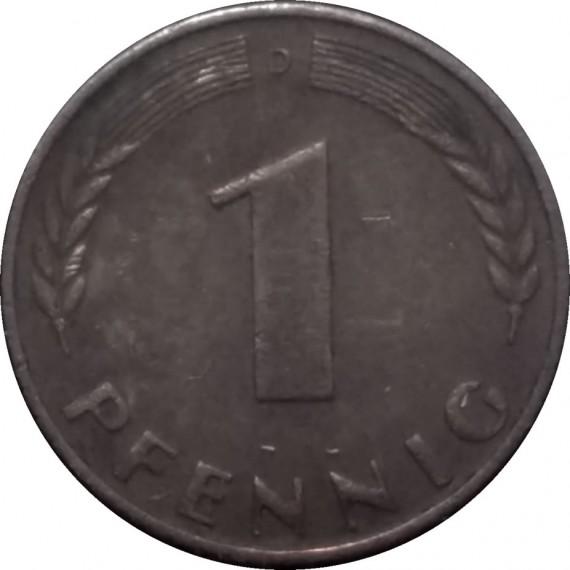 Moeda 1 pfennig - Alemanha - 1967