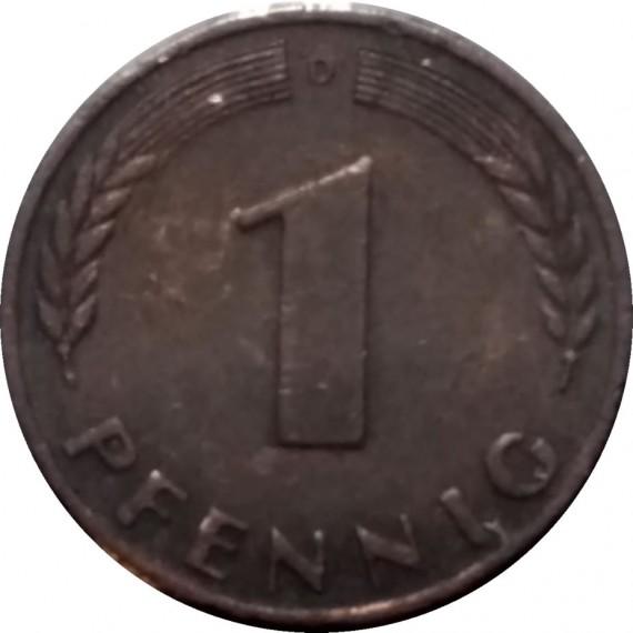 Moeda 1 pfennig - Alemanha - 1968