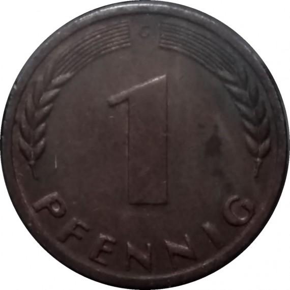 Moeda 1 pfennig - Alemanha - 1969