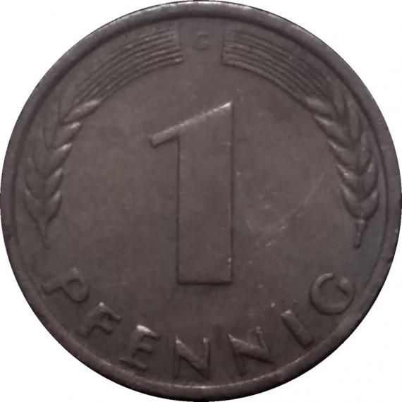 Moeda 1 pfennig - Alemanha - 1970
