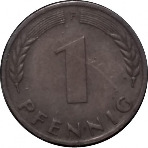 Moeda 1 pfennig - Alemanha - 1972