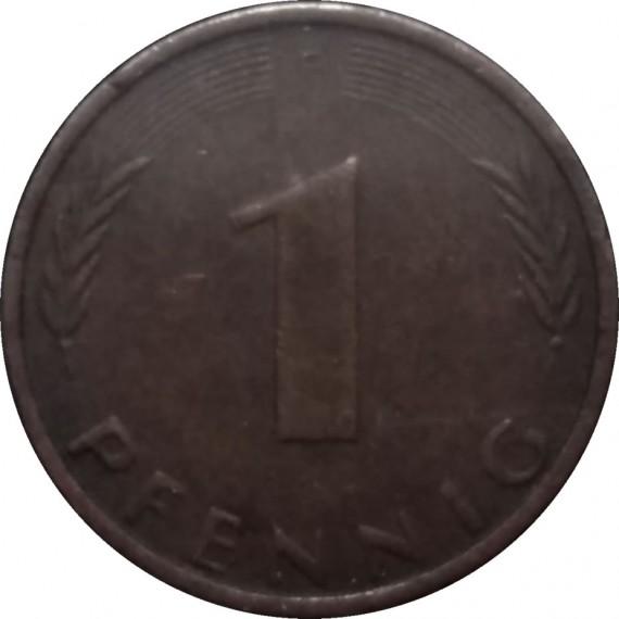 Moeda 1 pfennig - Alemanha - 1974