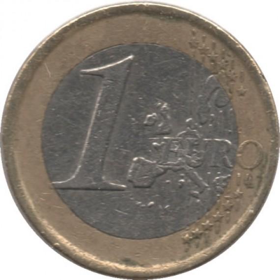 Moeda 1 euros - Espanha - 2002