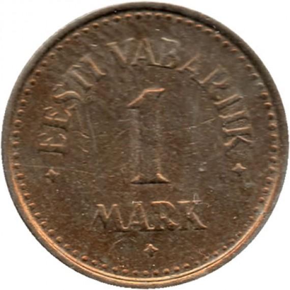 Moeda 1 Marco - Estônia - 1922