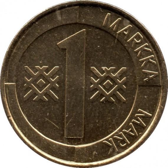 Moeda 1 markka - Finlândia - 1997