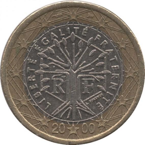 Moeda 1 euro - França - 2000