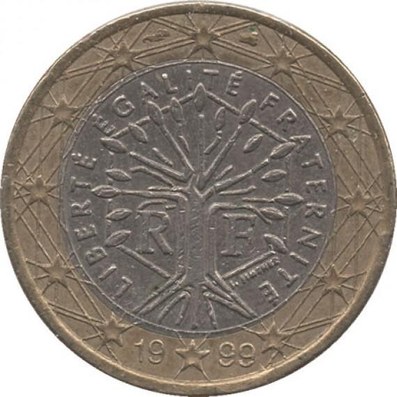 Moeda 1 euro - França - 1999